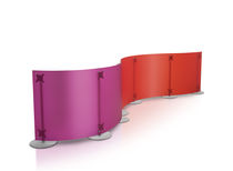 Floor-mounted office divider / plastic / design