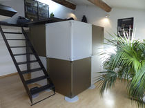 Removable partition / acrylic / for offices