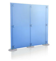 Mobile partition / acrylic / for offices