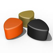 Contemporary pouf / plastic / commercial