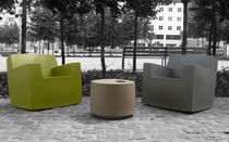 Urban armchair / contemporary / plastic / garden
