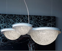 Pendant lamp / contemporary / crystal / metal