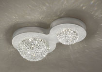 Contemporary ceiling light / crystal / metal / LED