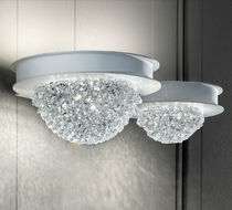 Contemporary wall light / crystal / painted metal / LED