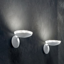 Contemporary wall light / Venetian glass / painted metal / LED