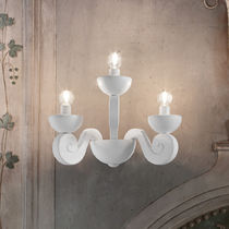 Contemporary wall light / metal / incandescent