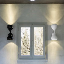 Contemporary wall light / coated / metal / LED