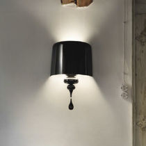 Traditional wall light / polyurethane / resin / aluminum