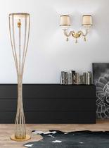 Floor-standing lamp / classic / glass / fabric