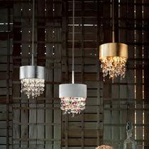 Pendant lamp / original design / metal / glass
