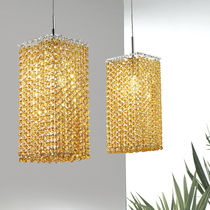 Pendant lamp / contemporary / crystal / incandescent