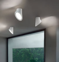Contemporary ceiling light / round / methacrylate / LED