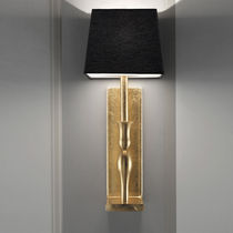 Contemporary wall light / metal / fabric / incandescent