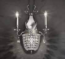 Classic wall light / crystal / metal / incandescent