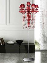 Floor-standing lamp / classic / glass / incandescent