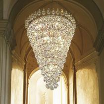 Classic chandelier / crystal / metal / incandescent