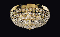 Classic ceiling light / round / crystal / incandescent