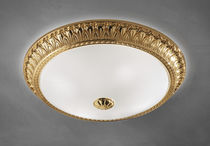 Classic ceiling light / round / glass / incandescent