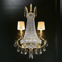 Classic wall light / crystal / incandescent / handmade