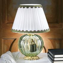Table lamp / classic / silk / Murano glass