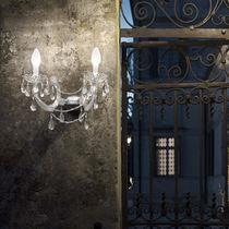 Classic wall light / outdoor / crystal / methacrylate