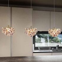 Pendant lamp / classic / glass / metal