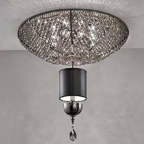 Classic ceiling light / square / borosilicate glass / brass
