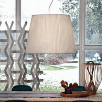 Pendant lamp / contemporary / fabric / incandescent