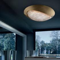 Contemporary ceiling light / Swarovski® crystal / aluminum / incandescent