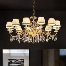 Classic chandelier / crystal / metal / silk