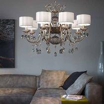Classic chandelier / blown glass / brass / iron