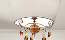 Classic ceiling light / round / brass / iron
