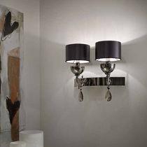 Classic wall light / brass / satin / borosilicate glass