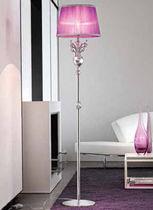 Floor-standing lamp / classic / silk / metal