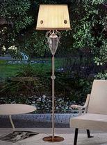 Floor-standing lamp / classic / silk / crystal