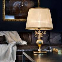 Table lamp / classic / silk / metal
