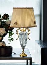 Table lamp / classic / silk / crystal