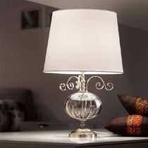Table lamp / classic / blown glass / iron