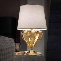 Table lamp / classic / fabric / metal