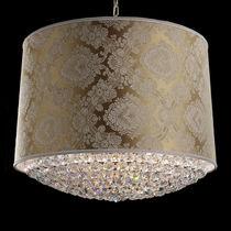 Pendant lamp / traditional / fabric / crystal