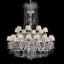 Traditional chandelier / crystal / Murano glass / incandescent