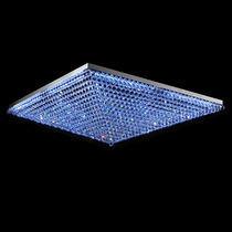 Contemporary ceiling light / square / crystal / incandescent