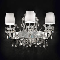 Classic wall light / glass / silk / incandescent