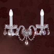 Classic wall light / crystal / Murano glass / incandescent