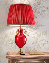 Table lamp / traditional / Murano glass / silk