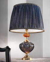 Table lamp / traditional / silk / Murano glass