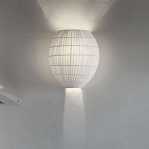Contemporary wall light / fabric / metal / incandescent