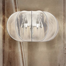 Contemporary wall light / fabric / metal / halogen