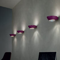 Contemporary wall light / crystal / aluminum