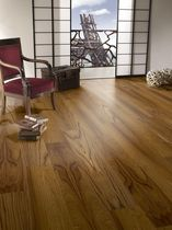 Engineered parquet flooring / floating / teak / natural oil